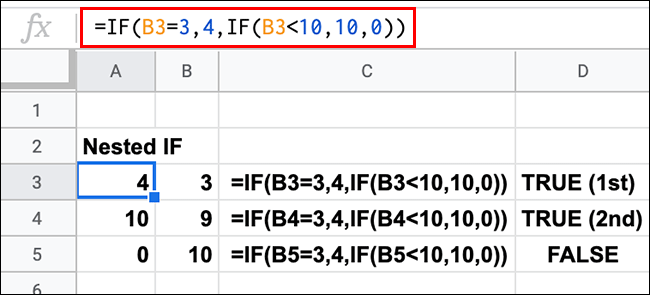 how to use if function in google spreadsheet