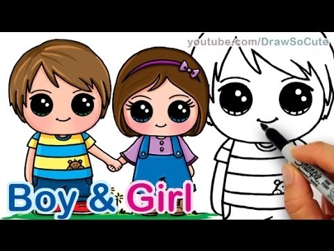 how to draw a boy and girl-2