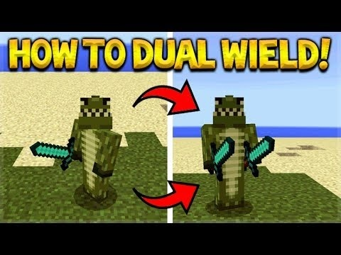 how to dual wield in minecraft ps4-0