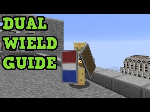 how to dual wield in minecraft ps4-1