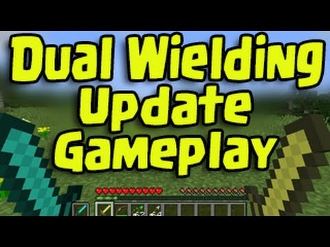how to dual wield in minecraft ps4-4