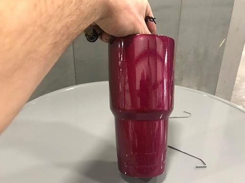 how to powder coat a yeti cup-0