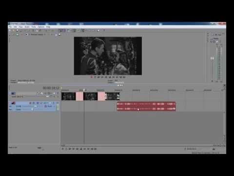 how to separate audio from video sony vegas-1