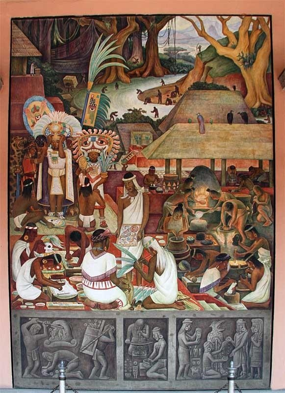 the 20th-century master of the fresco technique who created the work mixtec culture is:-0