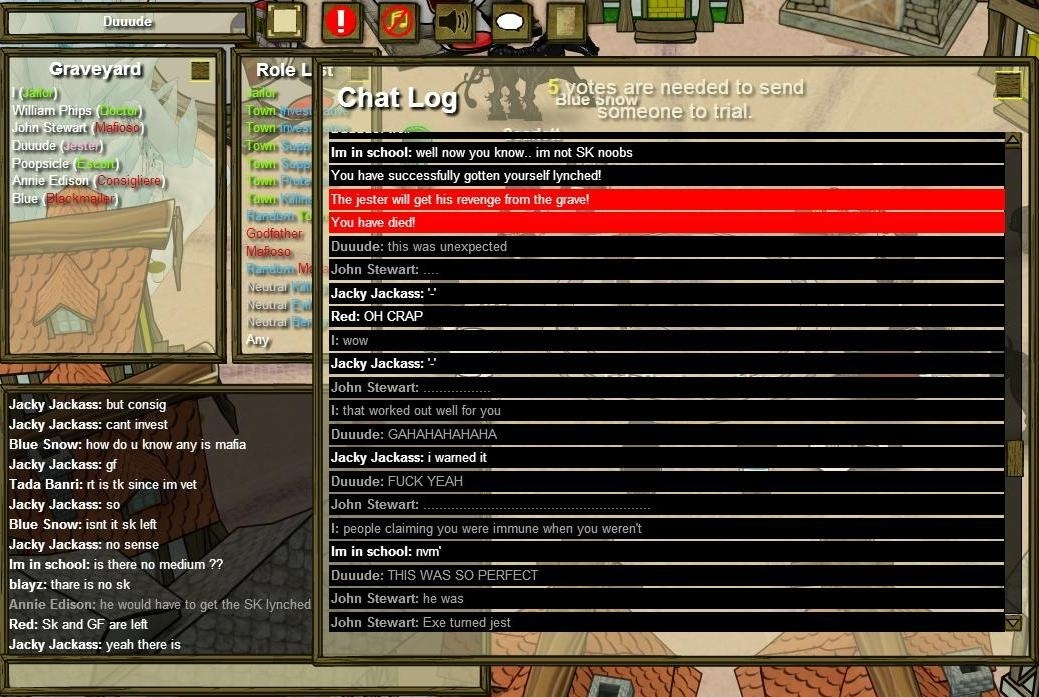 who is immune at night town of salem-1